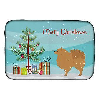 Tappetino per l'asciugatura dei piatti dell'albero di Natale allegro pomeraniano dei tesori di Caroline, 14 x 21