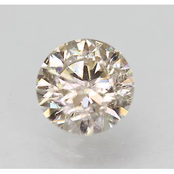 Sertifioitu 0,92 Carat H SI2 pyöreä loistava parannettu luonnollinen löysä timantti 6.08 mm