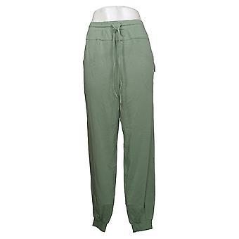 Enhver Kvinders Joggers Tall TL Hyggelig Strik W / Seaming Detail Green A349795