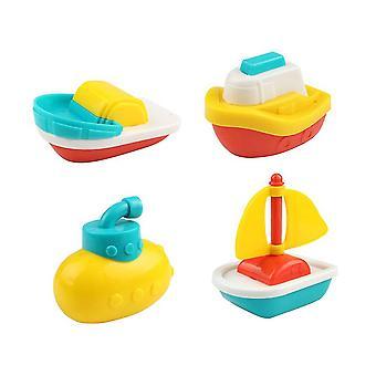 Picture 1 8pcs bath toys bathtime floating boat plastic ship model for toddlers kids dt3863