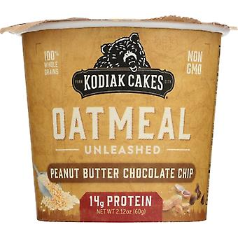 Kodiak Oatmeal Cup Pb Choc Chip, Case of 12 X 2.12 Oz