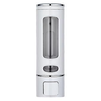 400ml Wall-mounted Liquid Dispenser For Hands Wash Soap Shampoo White