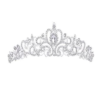 Bridal Headwear Alloy Set Diamond Crown Coronet Tiara