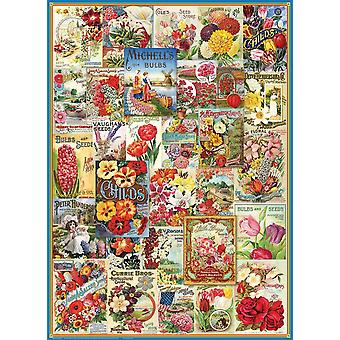 Eurographics Flowers Seed Catalogue Jigsaw Puzzle (1000 Pieces)