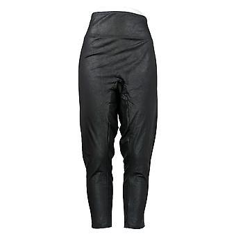 All Worthy Hunter McGrady Plus Leggings Faux Leather Black A387465