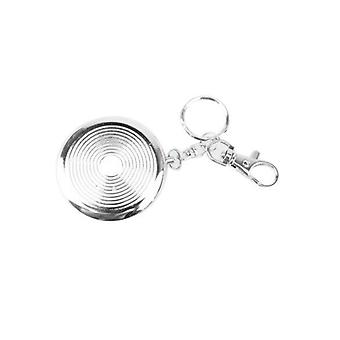 Useful Portable Pocket Stainless Steel Round Cigarette Ashtray With Keychain