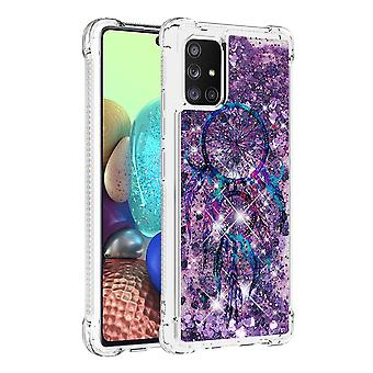 Case For Samsung Galaxy A71 5g Glitter Liquid Cute Clear Silicone Tpu Shockproof Cover - Wind Bell