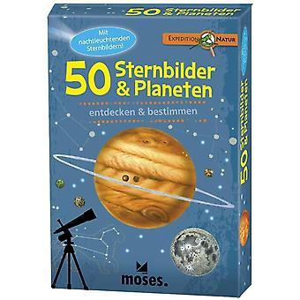 9740 Expedition Natur - 50 Sternbilder und Planeten| Bestimmungskarten im Set | Mit spannenden