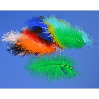 20 Assorted Colour Premium Marabou Feathers for Crafts