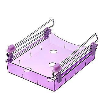 Fridge Space Saver Organizer Slide Under Shelf Rack Home Holder Storage Kitchen PURPLE COLOR