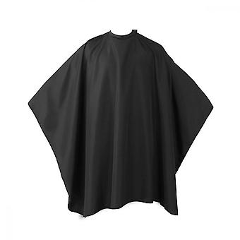 Haircut Cloth Salon Shawl With Snap Closure, Black