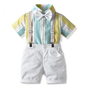 Baby Boy Shirt And Tie Sets With Suspender Straps Outfits