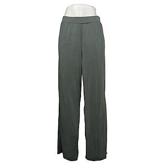 WynneLayers av MarlaWynne Dame Bukser Modal Wide-Leg Bukse Grønn 618313