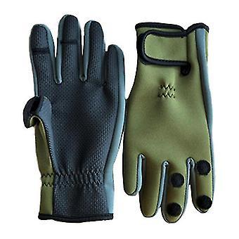 Utomhus vinterfiske tre eller två fingrar cut anti-slip klättring handske