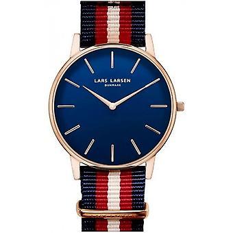 LLarsen (Lars Larsen Tricolour Nylon) 147RD-NNR20 Men's Watch