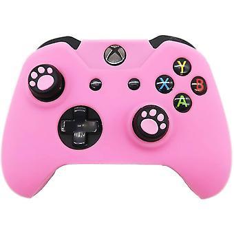 Xbox One Controller Skin Pink, Anti-Slip silicon Cover Protector Accesorii de caz Set pentru
