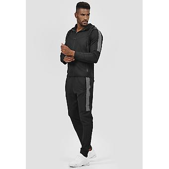 Bărbați fitness trening de bază Reflector Stripes Jogging Sport Suit Jacket & Hoodie