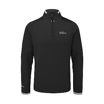 Oscar Jacobson Mens Tour Mid Layer Long Sleeve Sports 1/4 Zip Fleece Top