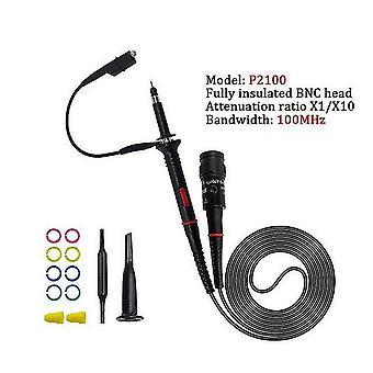 1Set di alta qualità p6100 oscilloscopio sonda dc-6mhz dc-100mhz scope clip probe spedizione gratuita (P2100