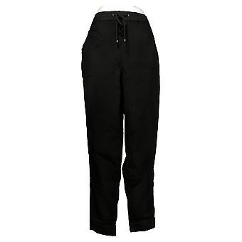 Skinnygirl Women's Pants Reg Pull-On Knit Denim Jogger Black 753683