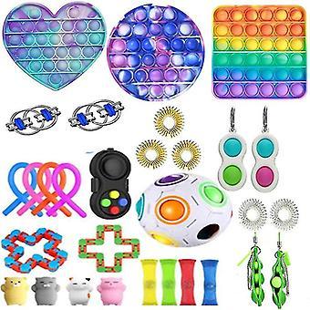 30pcs Pack Sensory Toy Set Antistress Relief Fidget Toys