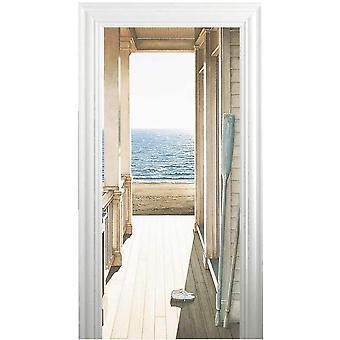2枚写真壁紙、ドアの壁紙
