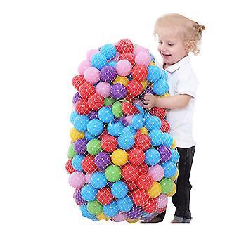 Uppblåsbar mjuk plast havsboll - baby simbassäng