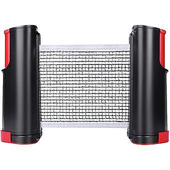 Einziehbares Tischtennisnetz mit Ständer, ideal für eine Tischtennisplatte, einen Schreibtisch, eine Küche oder einen Esstisch