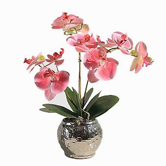 Simulazione Vaso da fiori Pianta Pathway Arte Orchidy Art Pacchetto Decorazione Decorazione domestica Soggiorno Soggiorno Tavolino Decorazione