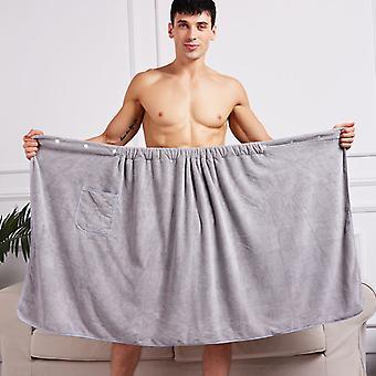 """מגבת אמבט קסומה לייבוש מהיר לגברים, 70x140 ס""""מ, מיקרופייבר, עם כיסים, לחוף"""