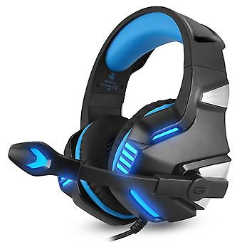 Blue Detachable Microphone Wireless Led Gaming Headset For Smartphones, Windows Xp/vista/7/8/8.1/10