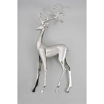 62cm Large Standing Silver Ornate Christmas Reindeer Xmas Tree Decoration