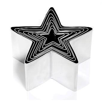 Eddingtons Deep Star Shape Cookie Cutters, Set of 8