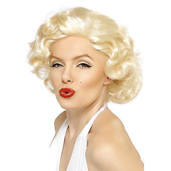Marilyn Monroe parrucca capelli corti Marilynperücke bionda