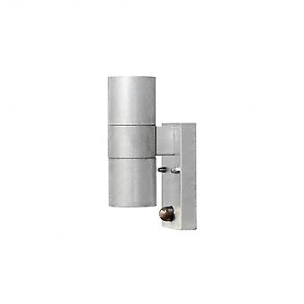 Konstsmide Modena Galv Double Wall Light With PIR