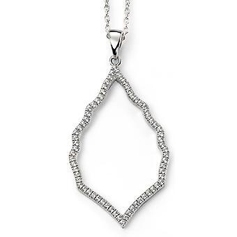925 sølv Zirconia halskjede Trend