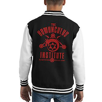 The Sins Of The Father Full Metal Alchemist Kid's Varsity Jacket
