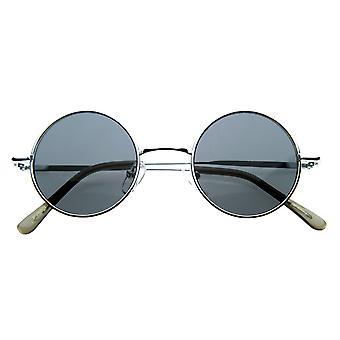 Liten Retro-Vintage-stil Lennon inspirert runde metall sirkelen solbriller