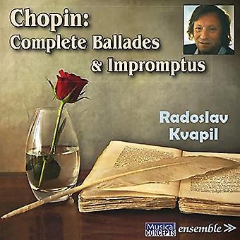 Radoslav Kvapil - Chopin: Ballades & Impromptus complet [CD] USA import