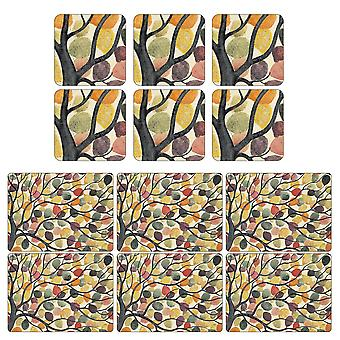 Pimpernel Dancing Branches Placemats and Coasters Set