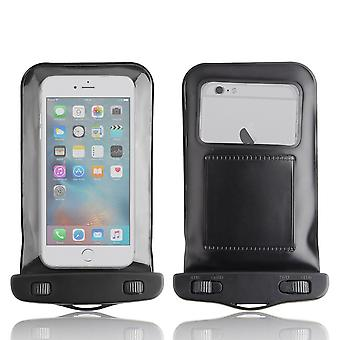 InventCase Waterproof Dustproof Bag Protective Case Cover for iPhone 6/6s Plus - Black