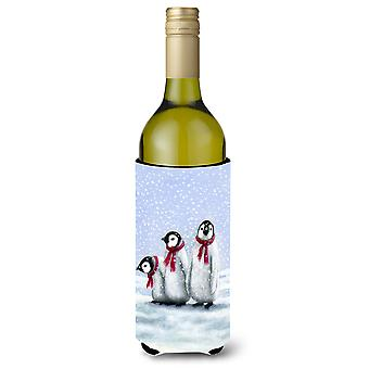 Penguins by Daphne Baxter Wine Bottle Beverage Insulator Hugger