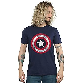 Marvel Men's Captain America Distressed Shield T-Shirt