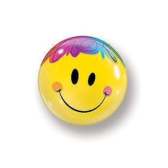 Ballon bubble ball smiley emoticon smile ongeveer 55 cm ballon