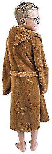 Star Wars Jedi Bath Robe Brown Kid - Size Medium