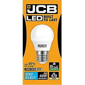 1 X JCB 6w LED Golf Ball ampoules Edison à vis E27, 40w ampoule incandescente équivalente, 470lm, blanc chaud 3000k, Non Dimmable, LED Edison vis Golf Ball ampoules, 220-240v [énergie classe A +]