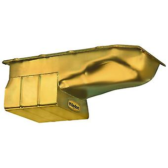 Milodon 30355 Steel, Gold Zinc Plated Street and Strip Oil Pan for Pontiac