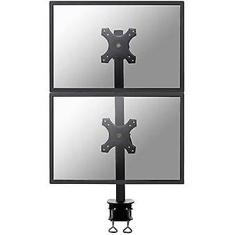 NewStar FPMA-D700DV 2x skærm bord montering 25, 4 cm (10)-68, 6 cm (27) højde justerbar, vipbar, drejelig, drejelig