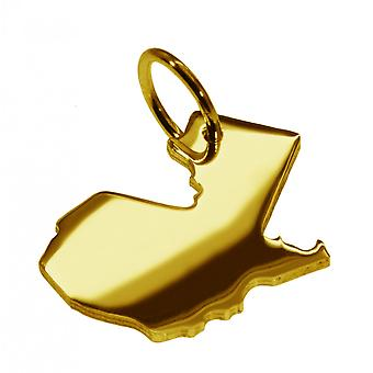 Trailer map GUATEMALA pendant in solid 585 gold