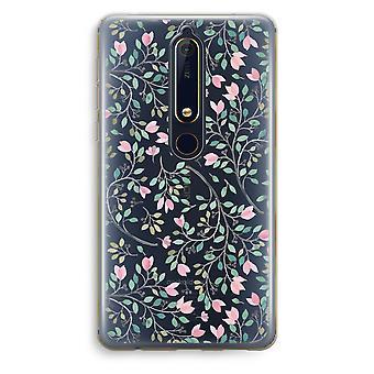 Nokia 6 (2018) boîtier Transparent (doux) - fleurs délicates
